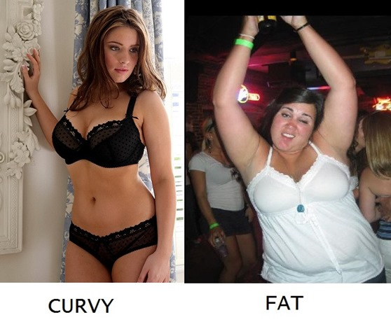 Curvy vs Fat