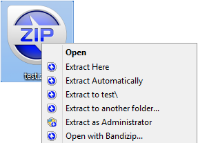 Bandizip Supports Packing and Unpacking