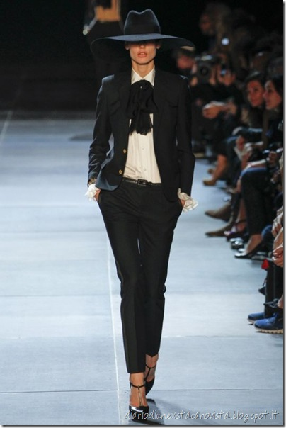 Sfilata Saint Laurent Paris - Collezioni Primavera Estate 2013 tuxedo
