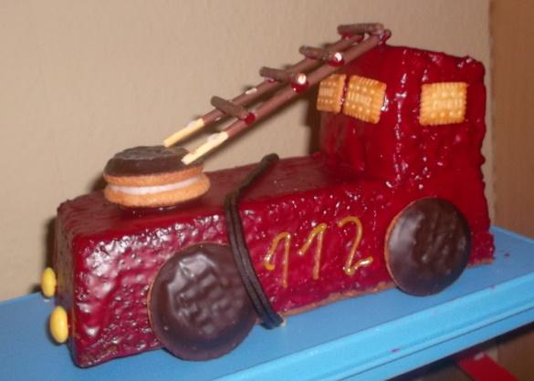 Feuerwehrauto Kuchen Kindergeburtstag Zuhause Image Idee