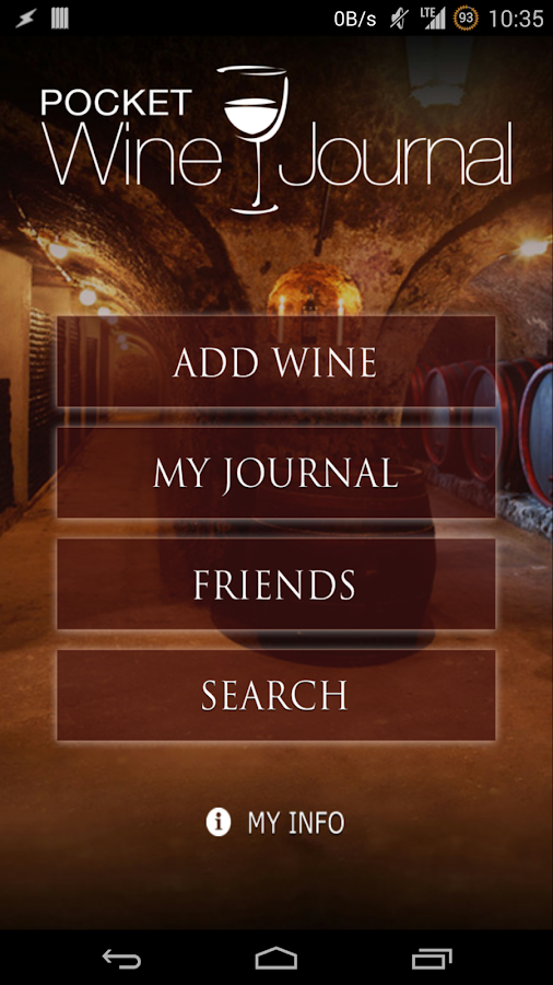 Pocket Wine Journal- screenshot