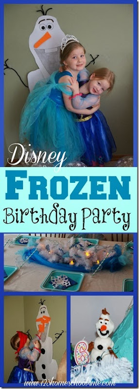 Disney Frozen Birthday Party Ideas for Kids - Includes clever frozen crafts, frozen activities, frozen games, and frozen decorations featuring frozen olaf lunch, frozenj party games, frozen Ana & Elsa cakes, and more!