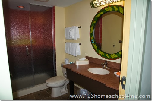 Master Bathroom - Disney Art of Animation Lion King Family Suite Review