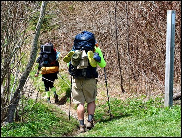 06b3 - Through Hikers-Backpackers - Carrying all they have