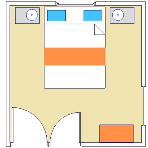 Ferguson Master Bedroom floor plan