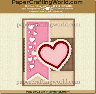 card heart banners ppr cfj 490