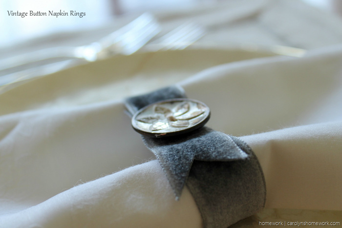 Vintage Button Napkin Ring via homework - carolynshomework (5)