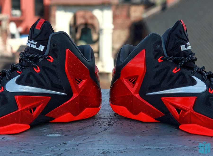 Another Look at Nike LeBron XI (11) Black Red Heat Away ...