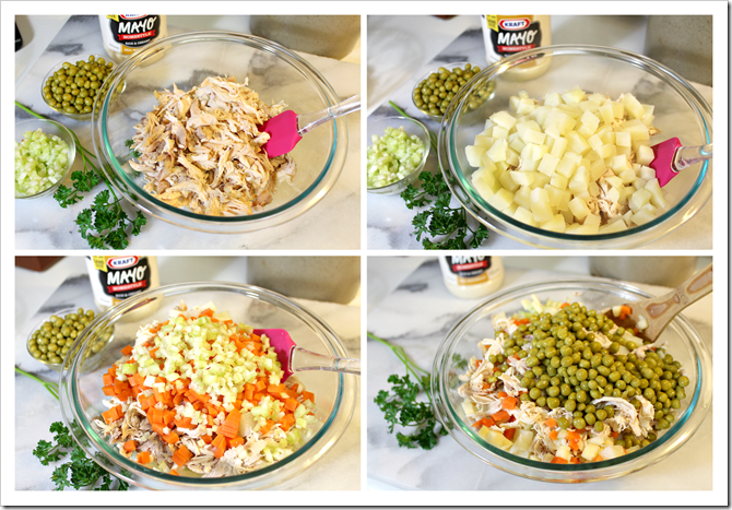 Mexican Chicken Salad | Step by step instructions
