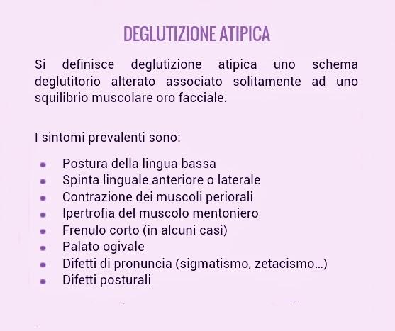 Deglutizione atipica.  Centro Logopedia Amamente Milano.