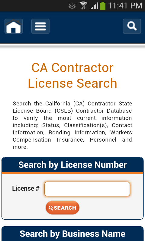 CONTRACTOR LICENSE SEARCH - ccb.state.or.us
