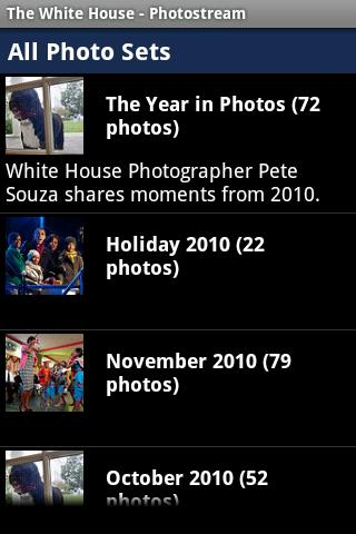 The White  House's Photostream - screenshot