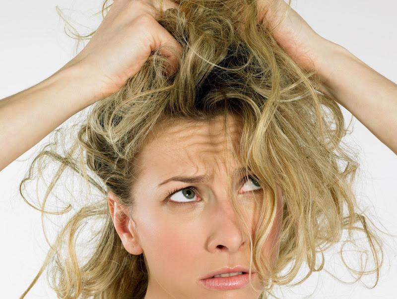 irritações no couro cabeludo