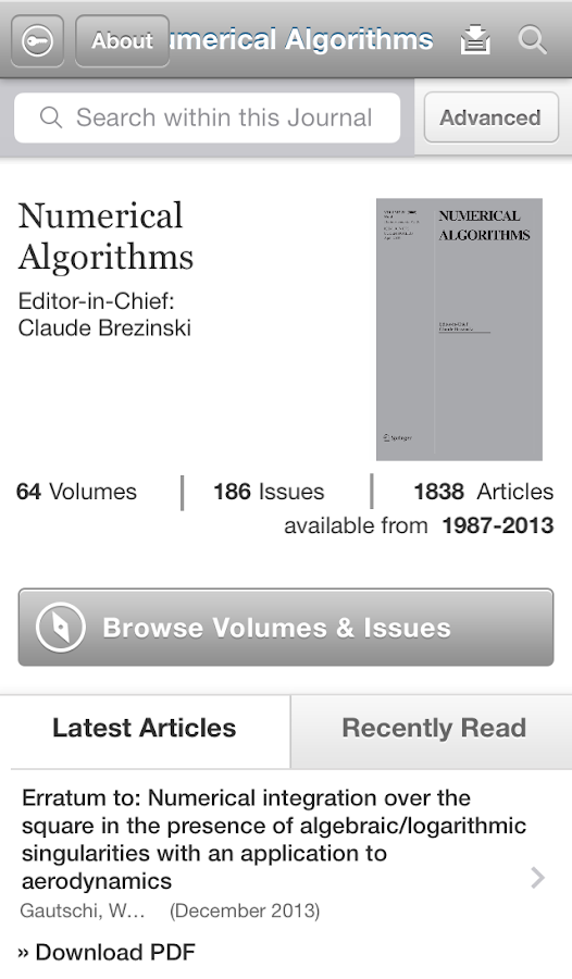 Numerical Algorithms- screenshot