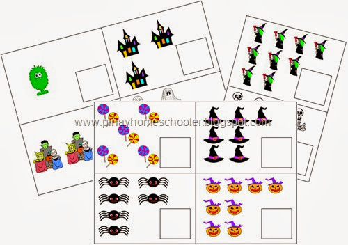 FREE Halloween Themed Counting Cards