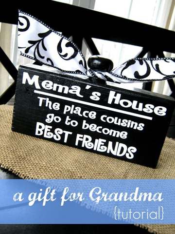 a gift for grandma tutorial