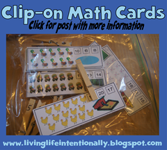 road trip game s- clip-on math cards