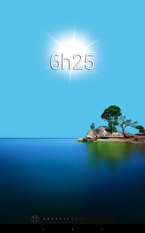 Glimmer (luminous alarm clock) - screenshot