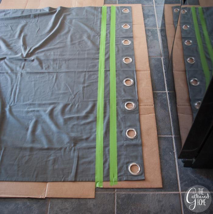 tape lines ikea curtain panel