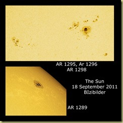 18 September 2011 Sunspots