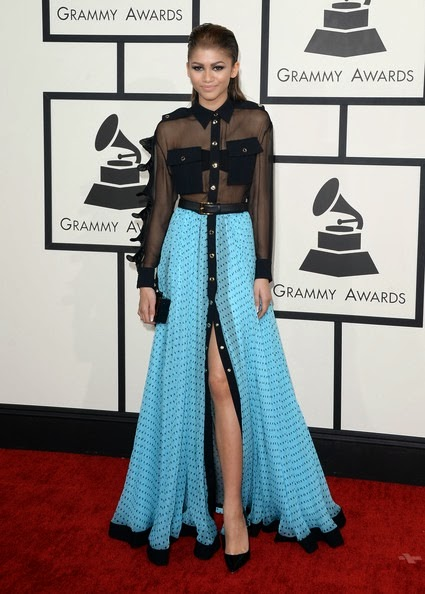 Zendaya Coleman attends the 56th GRAMMY Awards