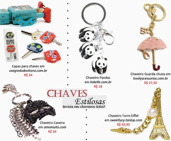 d0caa04c04161 Onde comprar  Chaveiros criativos e estilosos para suas chaves ...