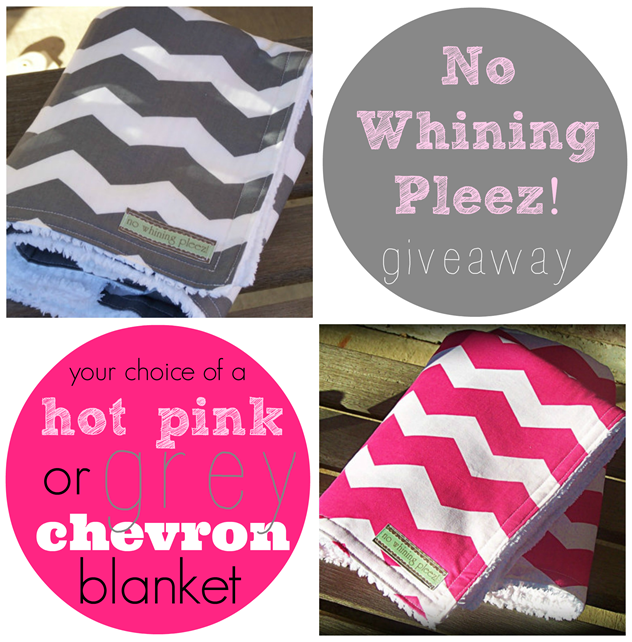 No Whining Pleez! chevron baby blanket giveaway at GingerSnapCrafts.com #giveaway