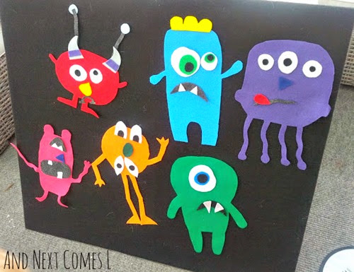 Mix and Match Felt Monsters from And Next Comes L
