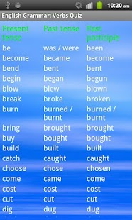 English Grammar: Verbs Free- screenshot thumbnail
