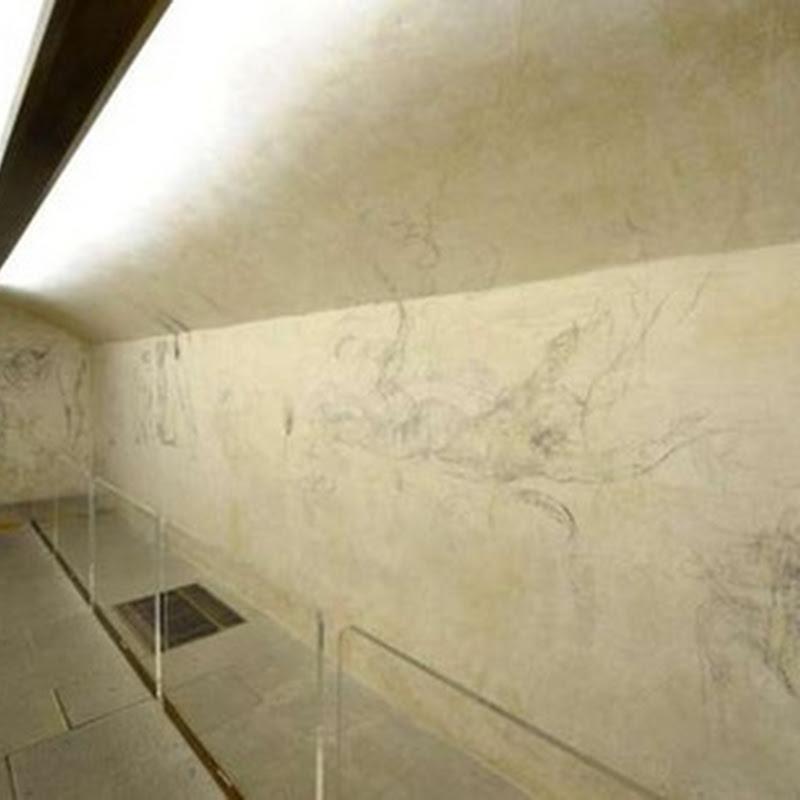 Desene de Michelangelo,  descoperite intr-o sală secretă