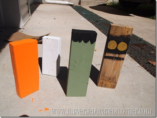 www.myveryeducatedmother.com 2x4 Halloween decor step 1