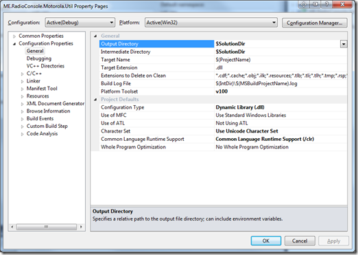 Programming Joy: Compiling C++ project using Visual Studio 2010 with
