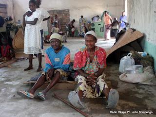 Des refugiés Congolais venues de Dongo en RDC, dans un camp à Betou au Congo-Brazzaville. Radio Okapi/ Ph. John Bompengo