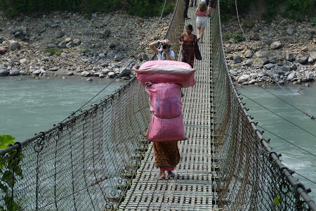 Swing bridge Nepal