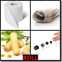 ROLL- 4 Pics 1 Word Answers 3 Letters