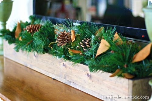 Christmas wood trough