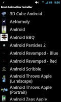 Screenshot of Boot Animation Installer
