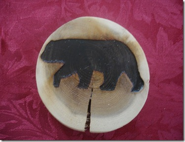 DIY bear image on wooden coasters