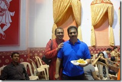With Koushik the food in charge