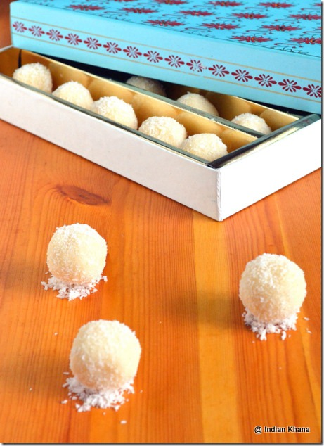 Easy quick diwali coconut laddoo recipe
