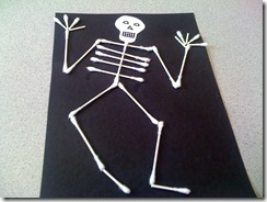 q tip skeleton craft template - castles and crayons spiders skeletons pumpkins oh my