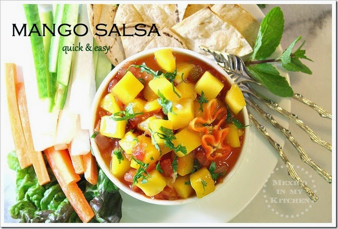 Quick & Easy Mango Salsa | This recipe is done in minutes!