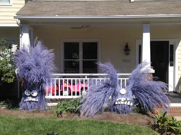 Purple grass minions
