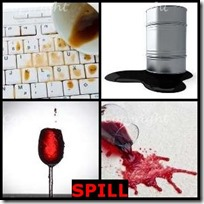 SPILL- 4 Pics 1 Word Answers 3 Letters