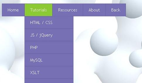 Crear un menú desplegable de dos colores en CSS3