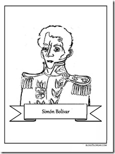 simon bolivar blogcolorear 1