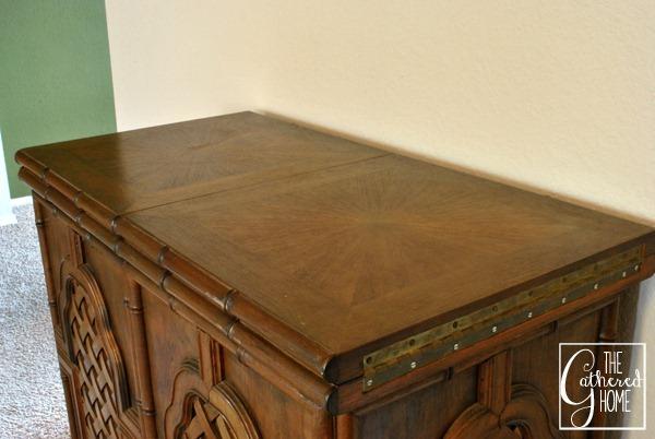carved teak bar top