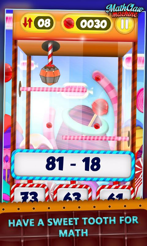 Math Claw Machine: Sweet Games- screenshot