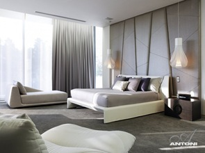 Habitacion con diseño contemporaneo