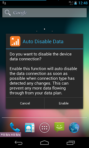 Auto Disable Data Connection